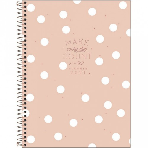 PLANNER ESPIRAL MAKE EVERY DAY COUNT 100 FOLHAS